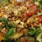 Chilli and Cumin Lentil Salad with Pistachio Nuts