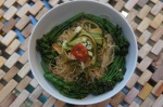 Three Green Wasabi Stir Fry with GlassNoodles