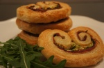 Prosciutto Crudo, Courgette and Rocket Palmiers