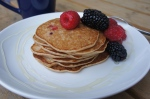 Whole Wheat Buttermilk Pancakes with Berries