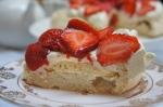 Golden Strawberry Pavlova