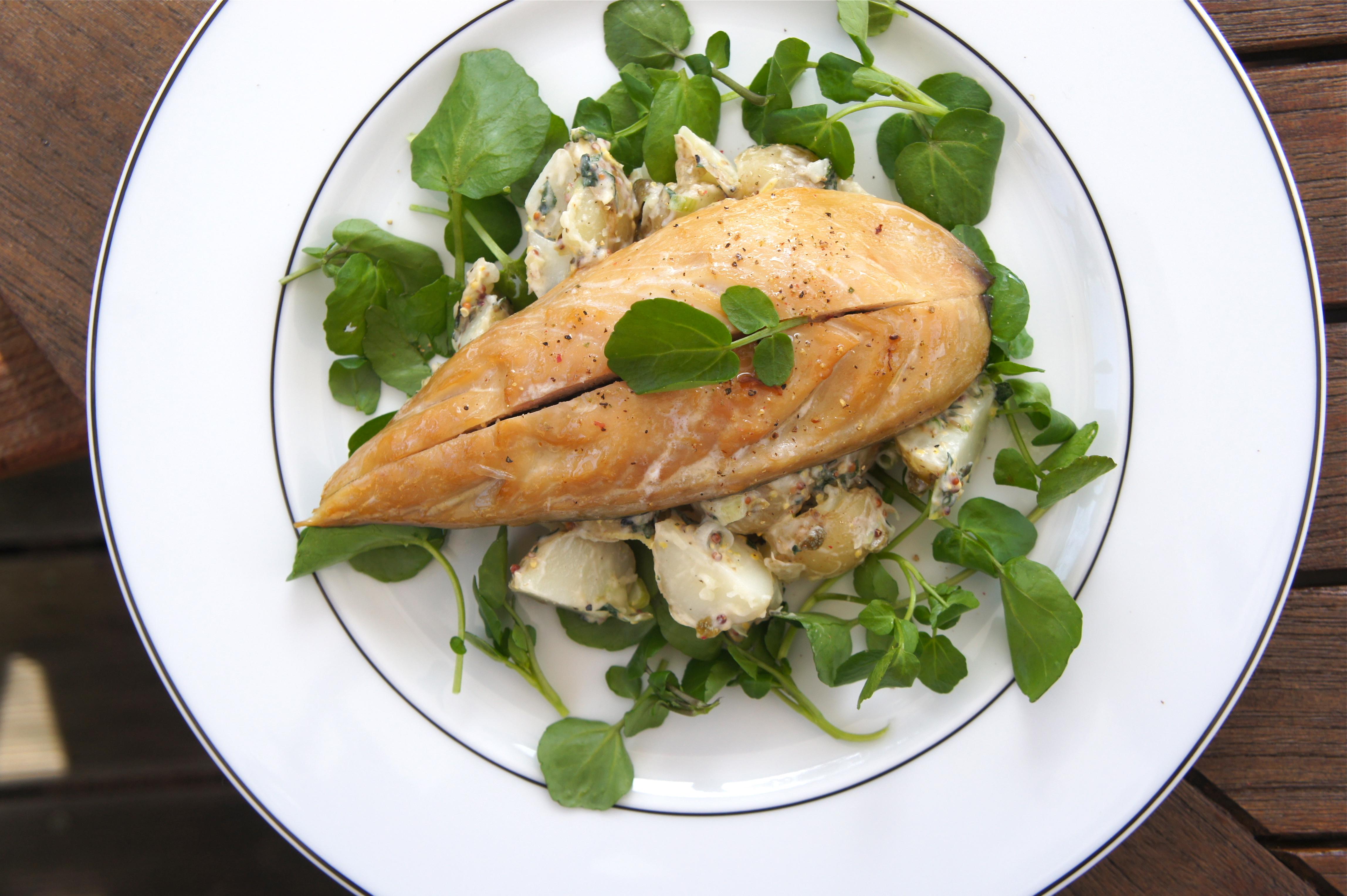 Smoked mackerel and potato salad indulge devour for How to cook mackerel fish